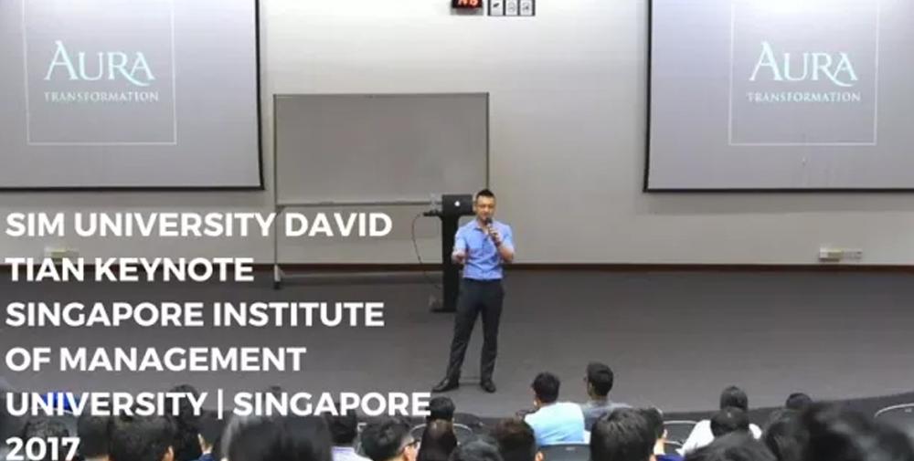 """The Man Up Show"" – SIM University David Tian Keynote Singapore Institute of Management University | Singapore 2017"